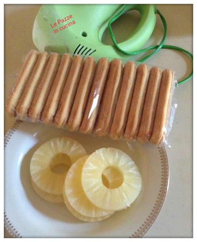 Torta all'ananas robiola panna